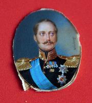 Миниатюра с изображением Имп. Николая I,   художник  Ivan Wünberg. 19 в