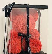 Необычный подарок – мишка из роз